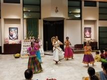 Vijayadashami, Vidyarambham. Chinmaya Kalajyoti - Bharatanatyam students